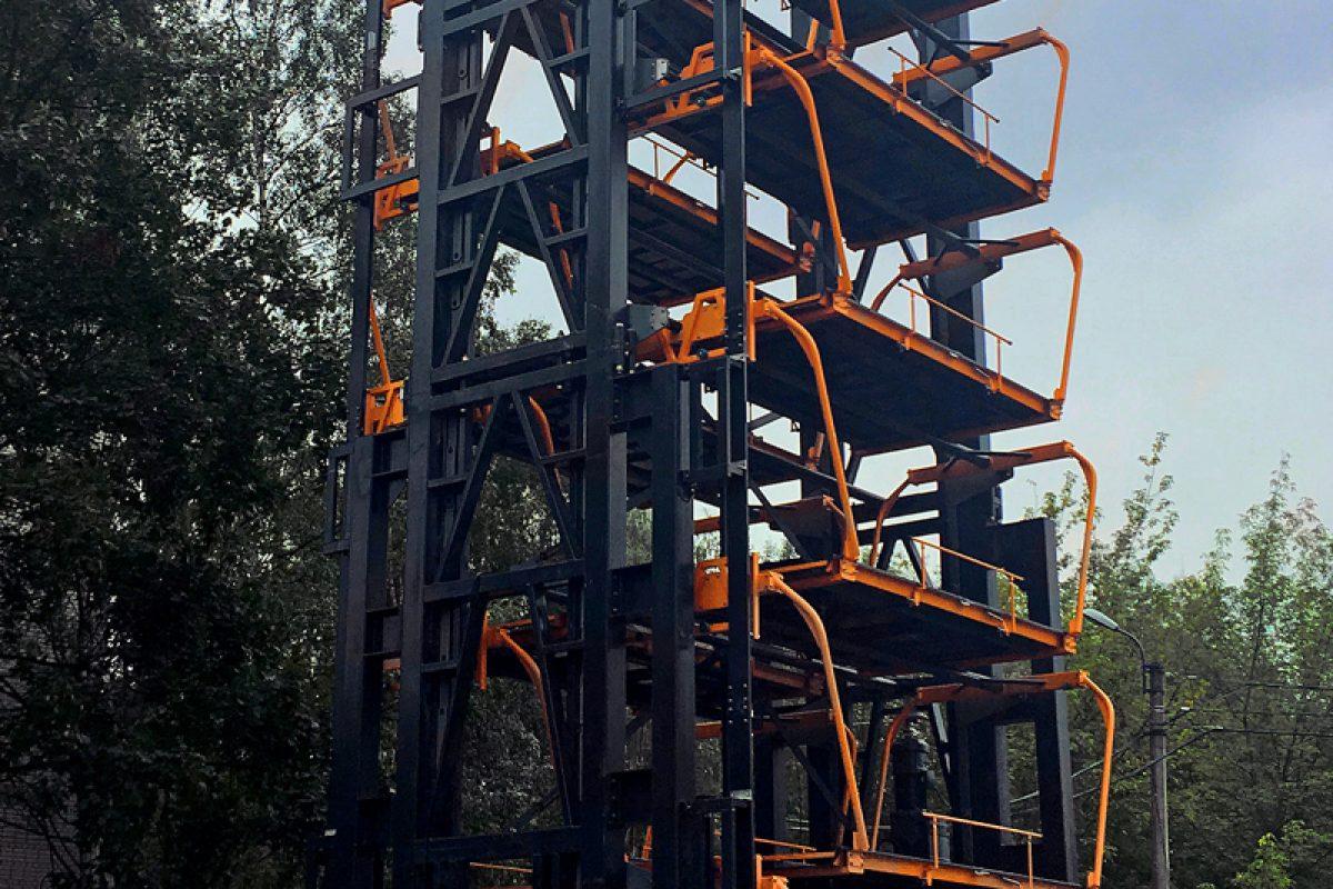 Многоуровневый парковочный карусельный лифт