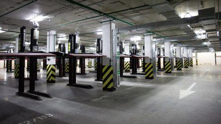 Механизированный паркинг жилого комплекса в Краснодаре