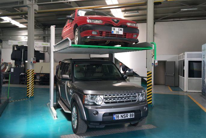 Парковочный подъёмник зависимого типа