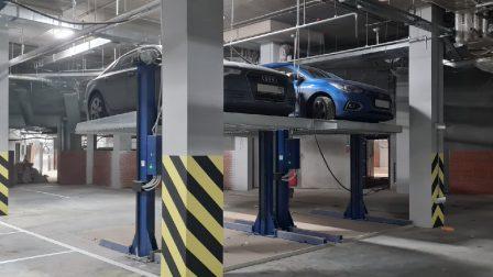 Подъёмники ППЭМ в новом паркинге