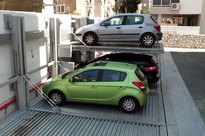 Парковочный подъёмник независимого типа