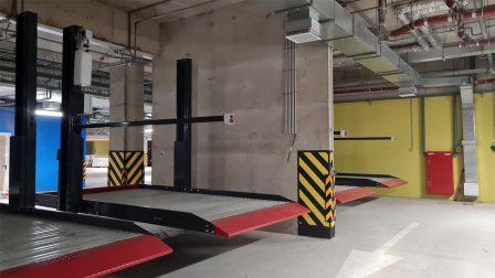 Парковочные подъёмники в подземном паркинге жилого комплекса «Riviere Noire»