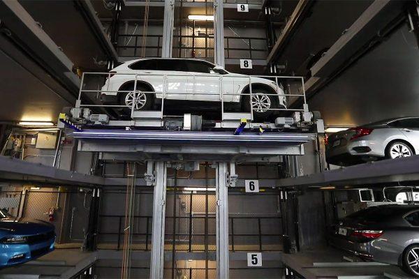 Автоматизированная парковка типа Стеллаж
