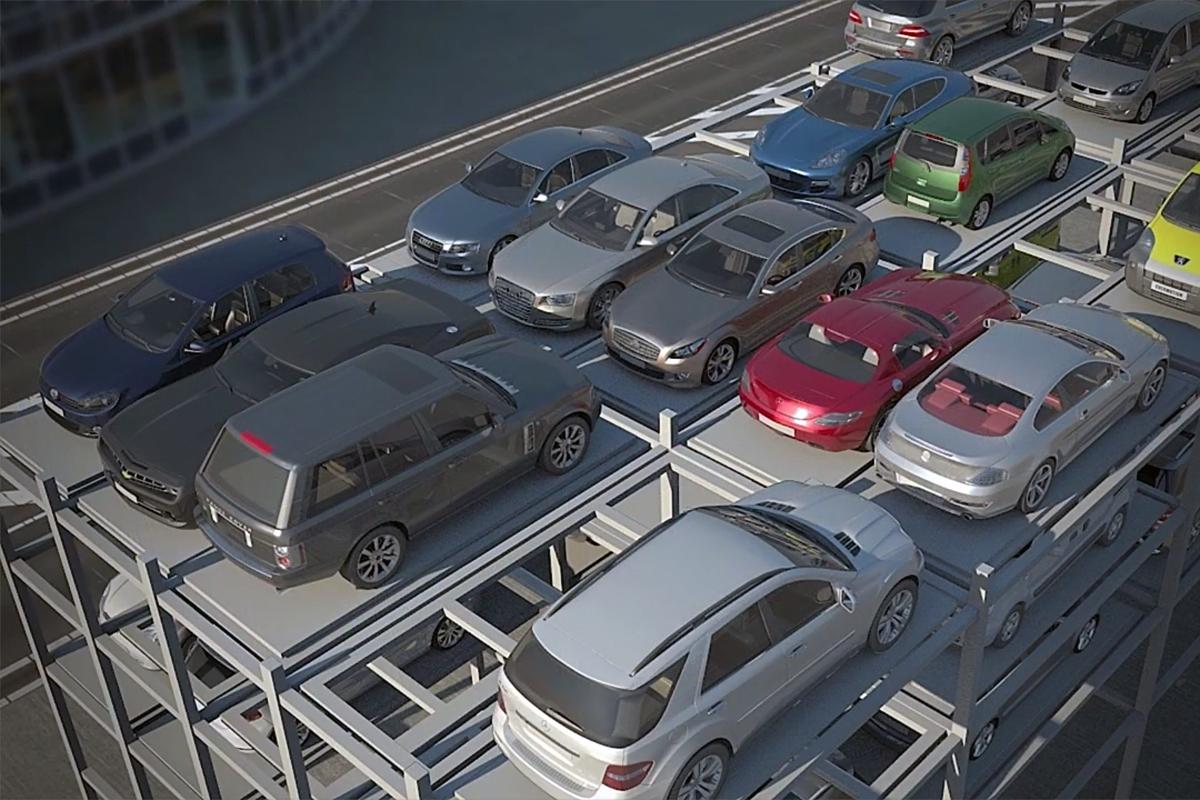 Машиноместа в комбинированном автоматическом паркинге