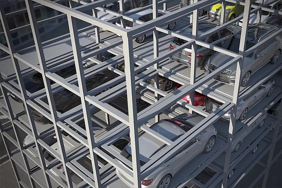 Многоярусная комбинированная парковка