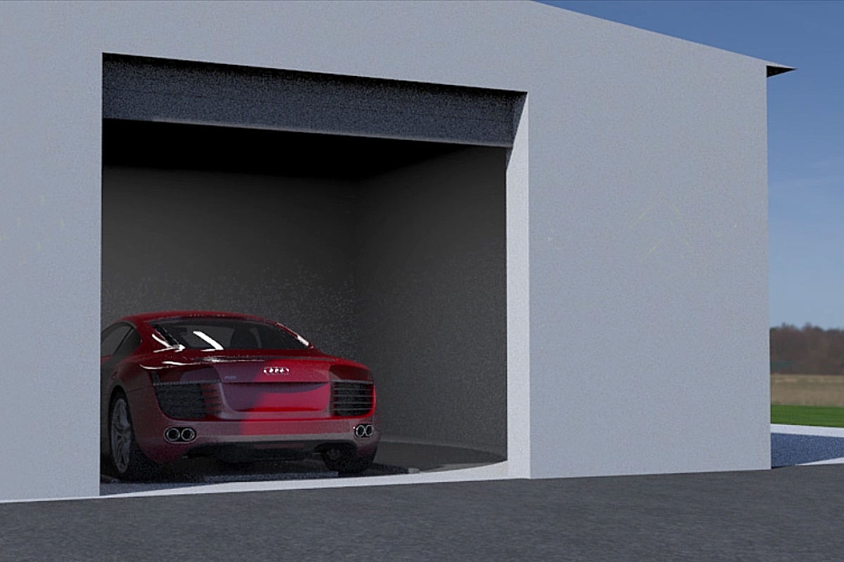 Автомобиль в приёмном боксе парковки Оптима