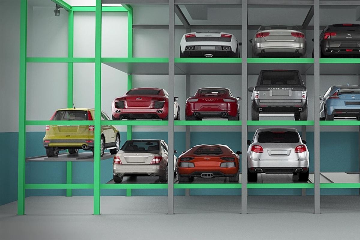 Работа механизированной автоматической парковки Оптима