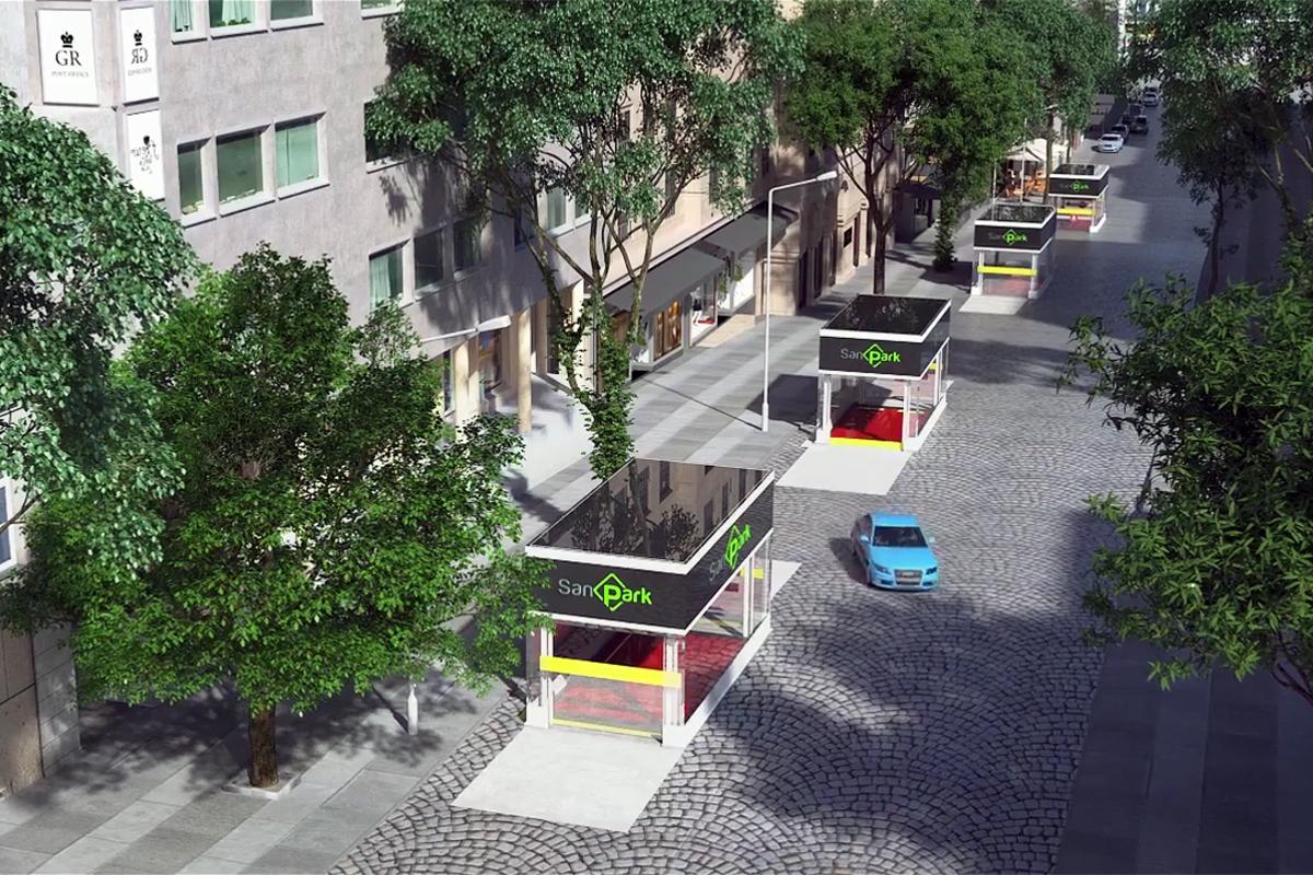 Башенная парковка под улицей