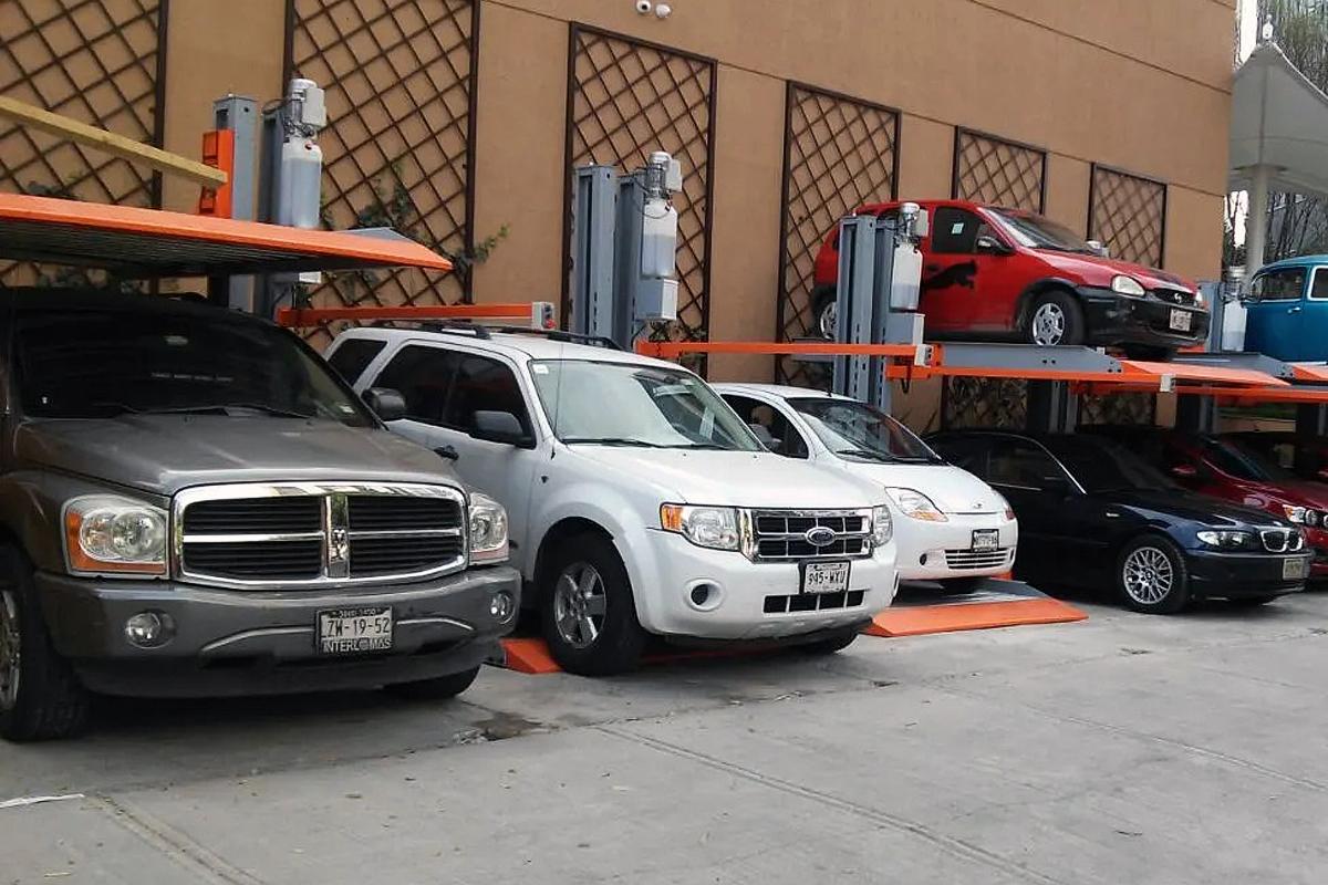Китайские парковочные подъёмники