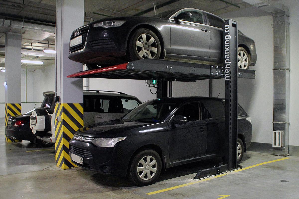 Китайский парковочный подъёмник