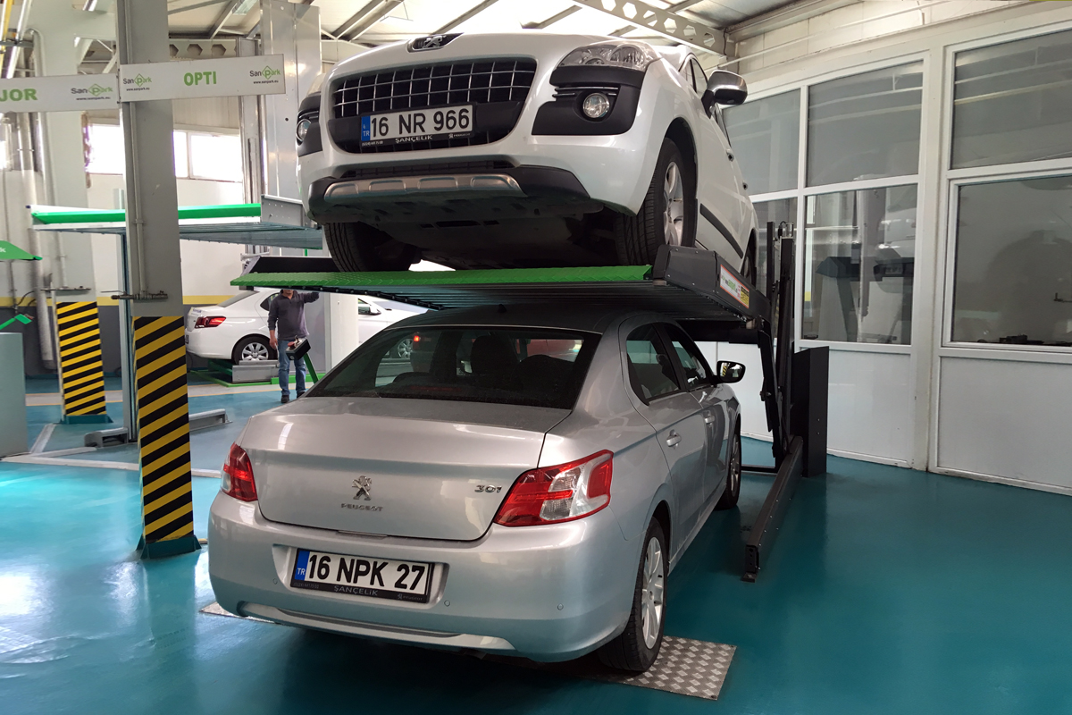 Компактный парковочный подъёмник