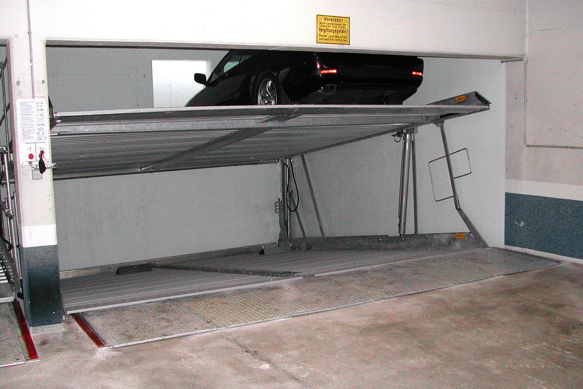 Парковка с приямком для гаража