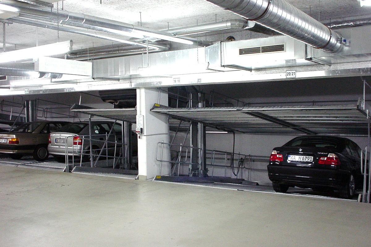 Немецкие независимые парковочные подъёмники для низких помещений