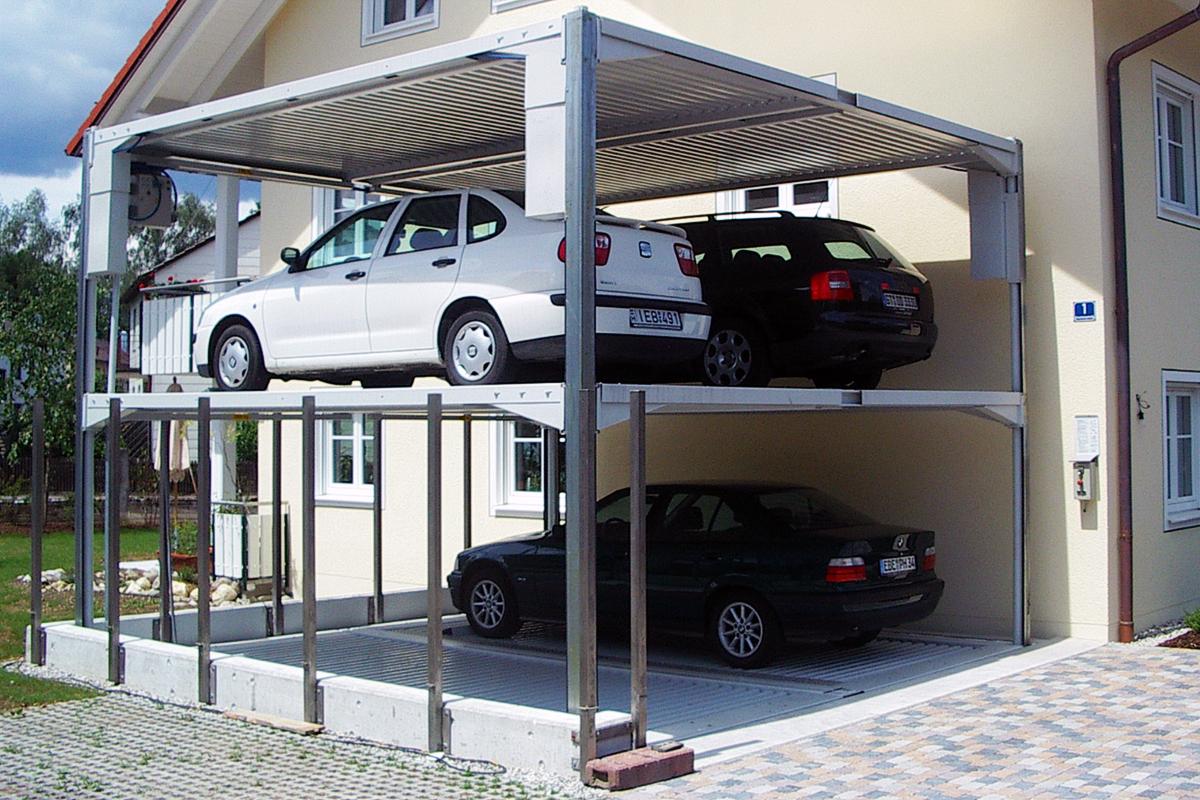 Немецкие парковочные подёмники с интеграцией в ландшафт