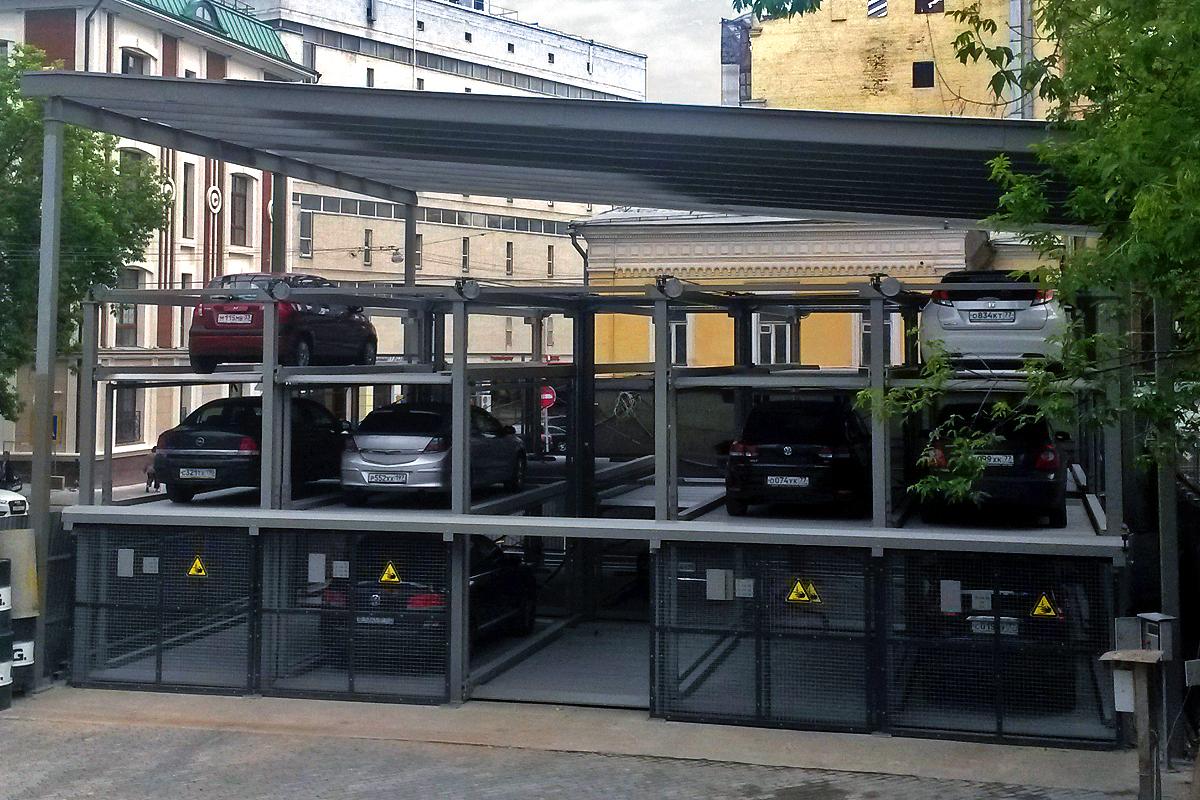 Немецкая пазловая парковка