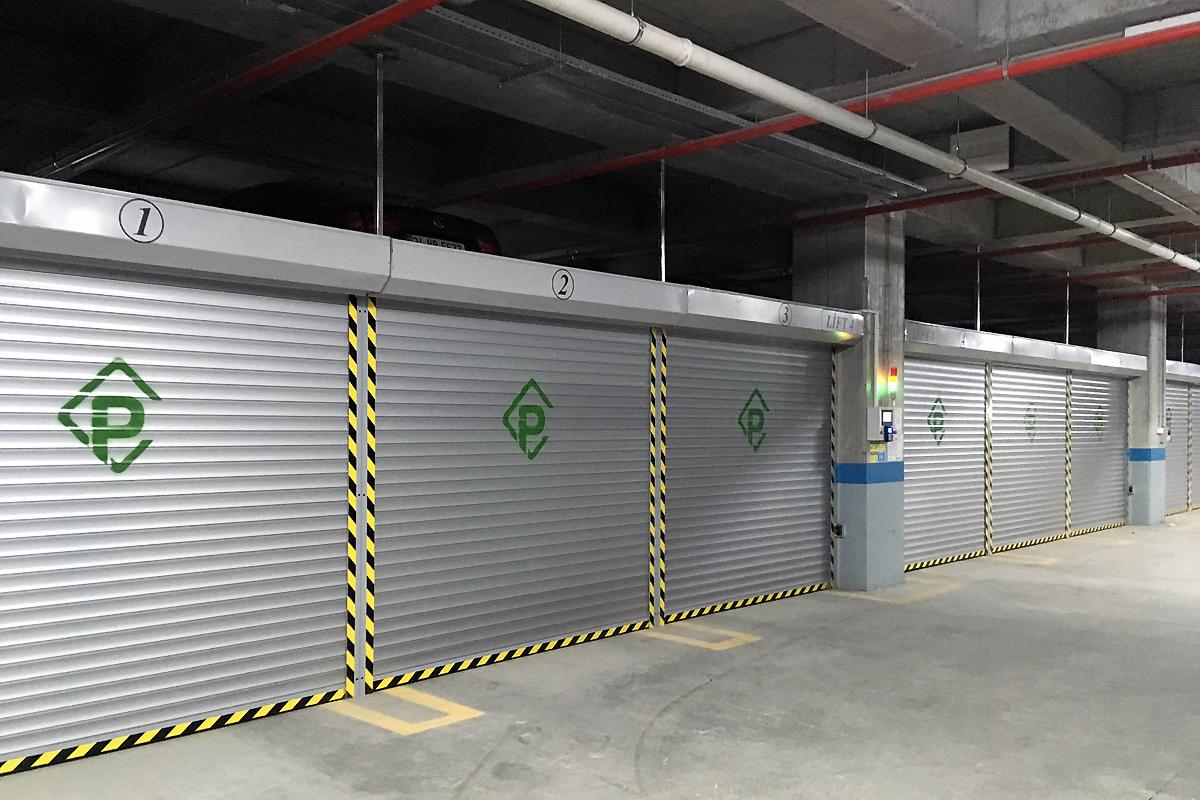 Пазловая парковка для низких помещений