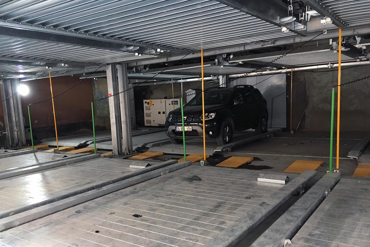 Автомобиль взаднем рядя пазловой парковки