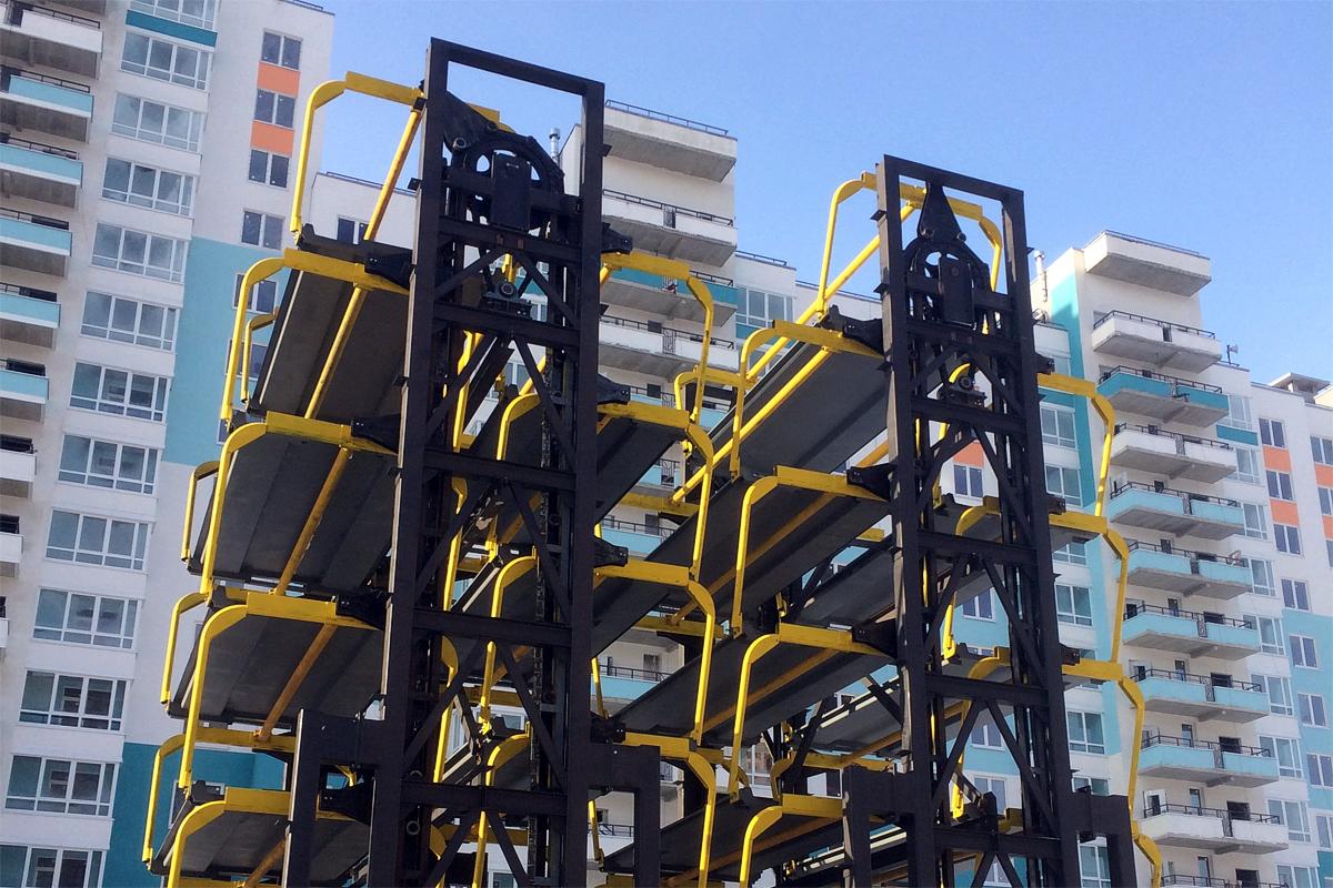 Корейские роторные парковки установленные в России