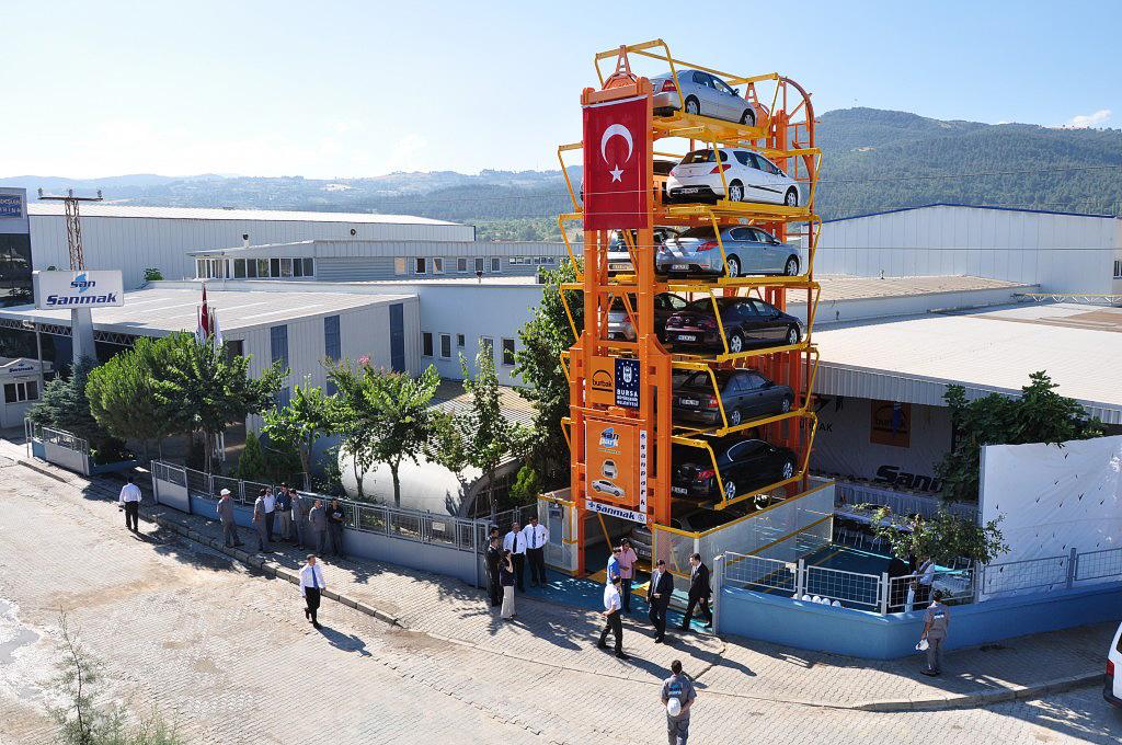 Турецкая роторная многоярусная парковка