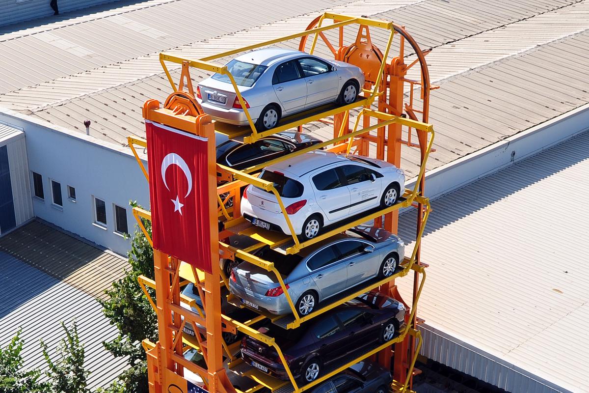 Турецкая роторная карусельная парковка