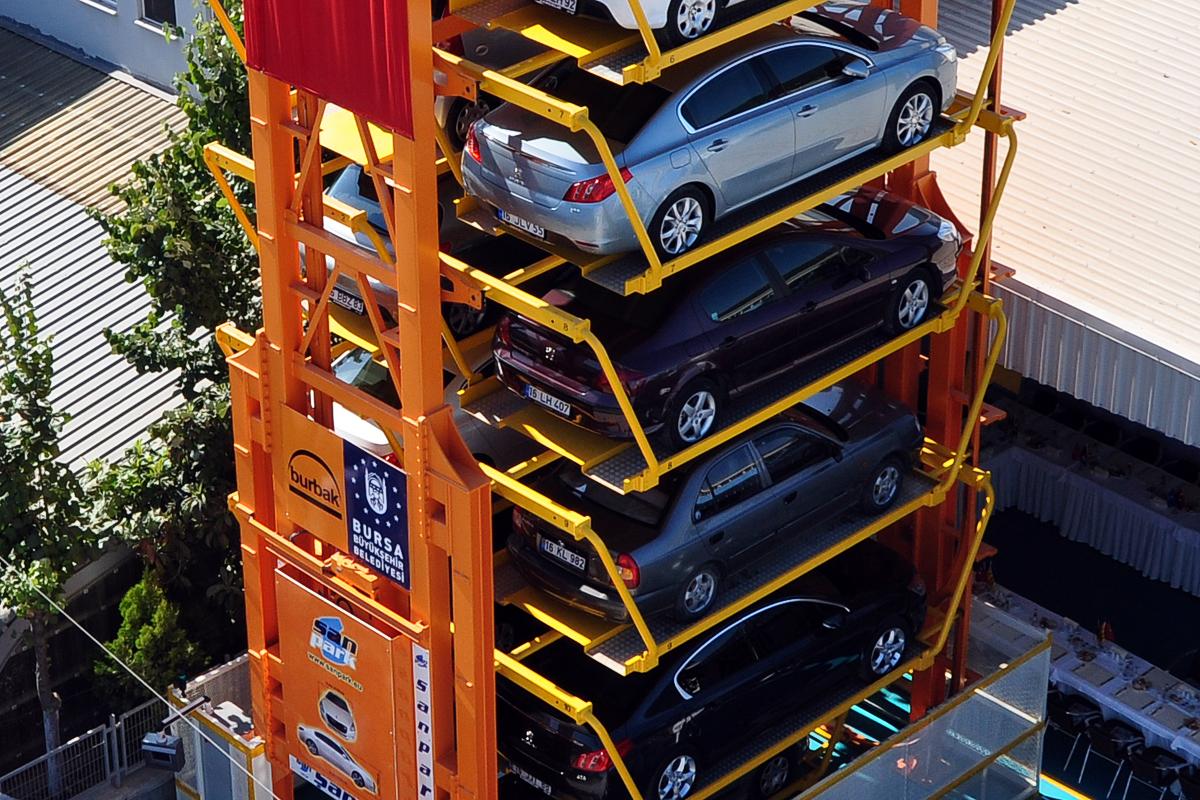 Вертикальная роторная парковка турецкого производства