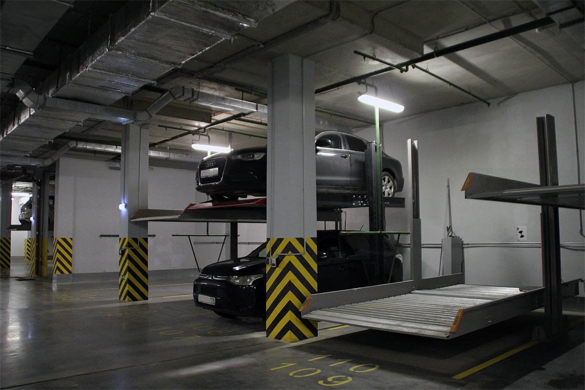Парковочные подъёмники в механизированном подземном паркинге