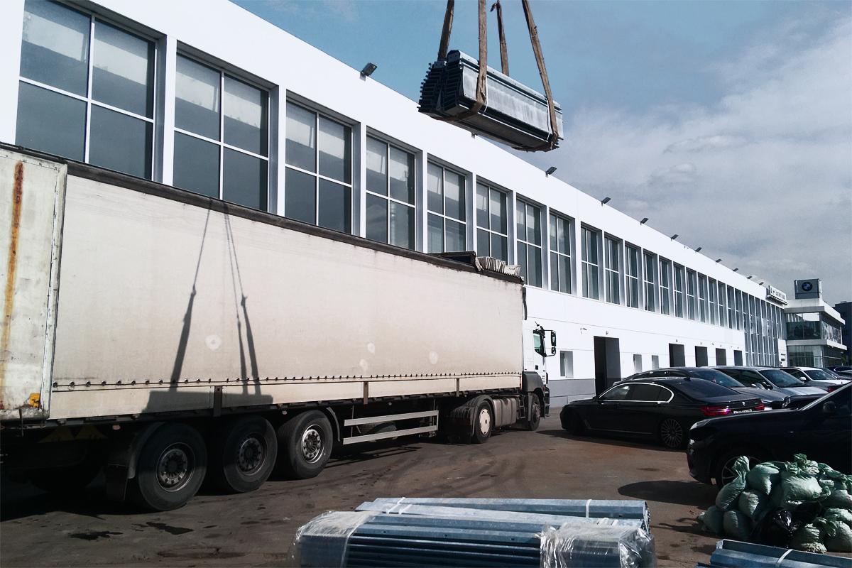 Доставка парковочного оборудования для стоянки центра БМВ
