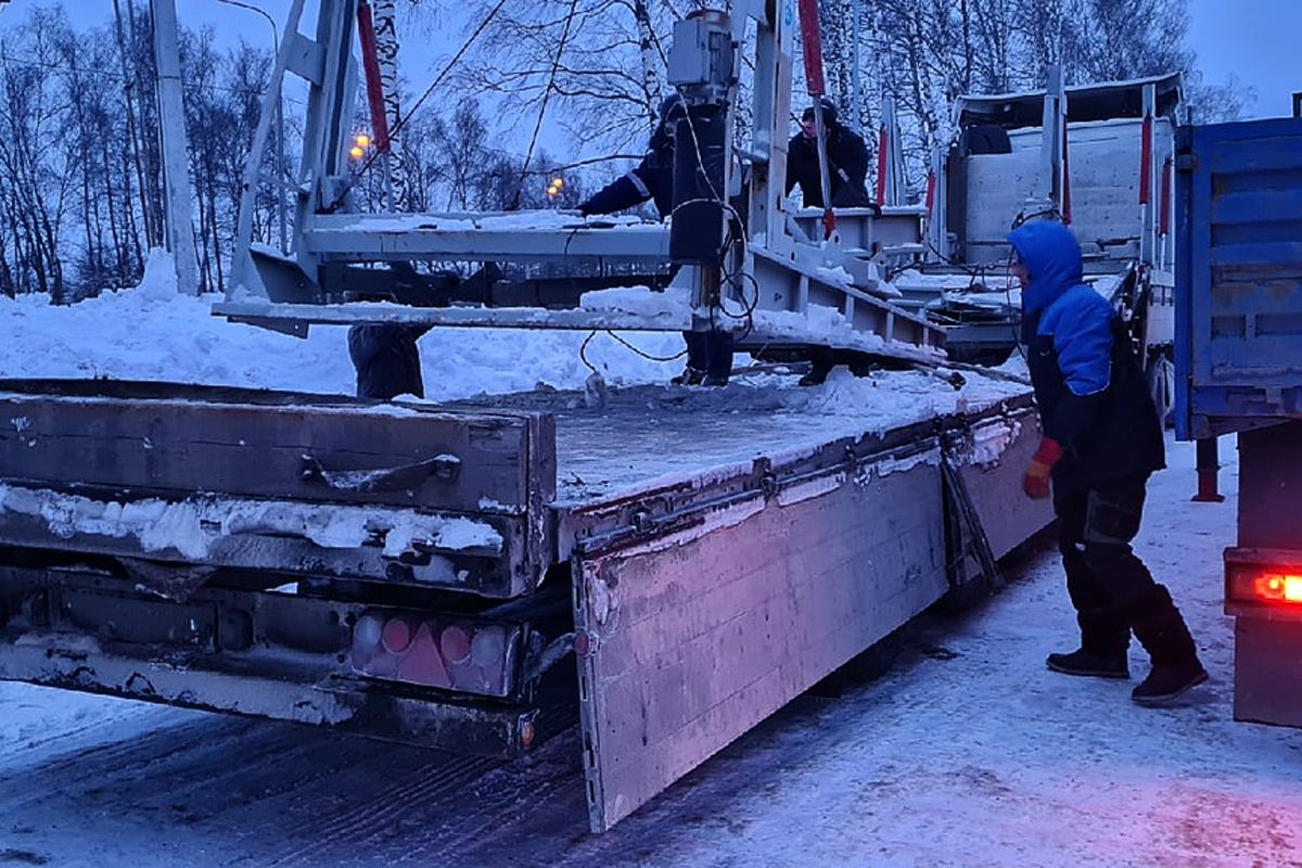 Зимняя доставка парковочного оборудования