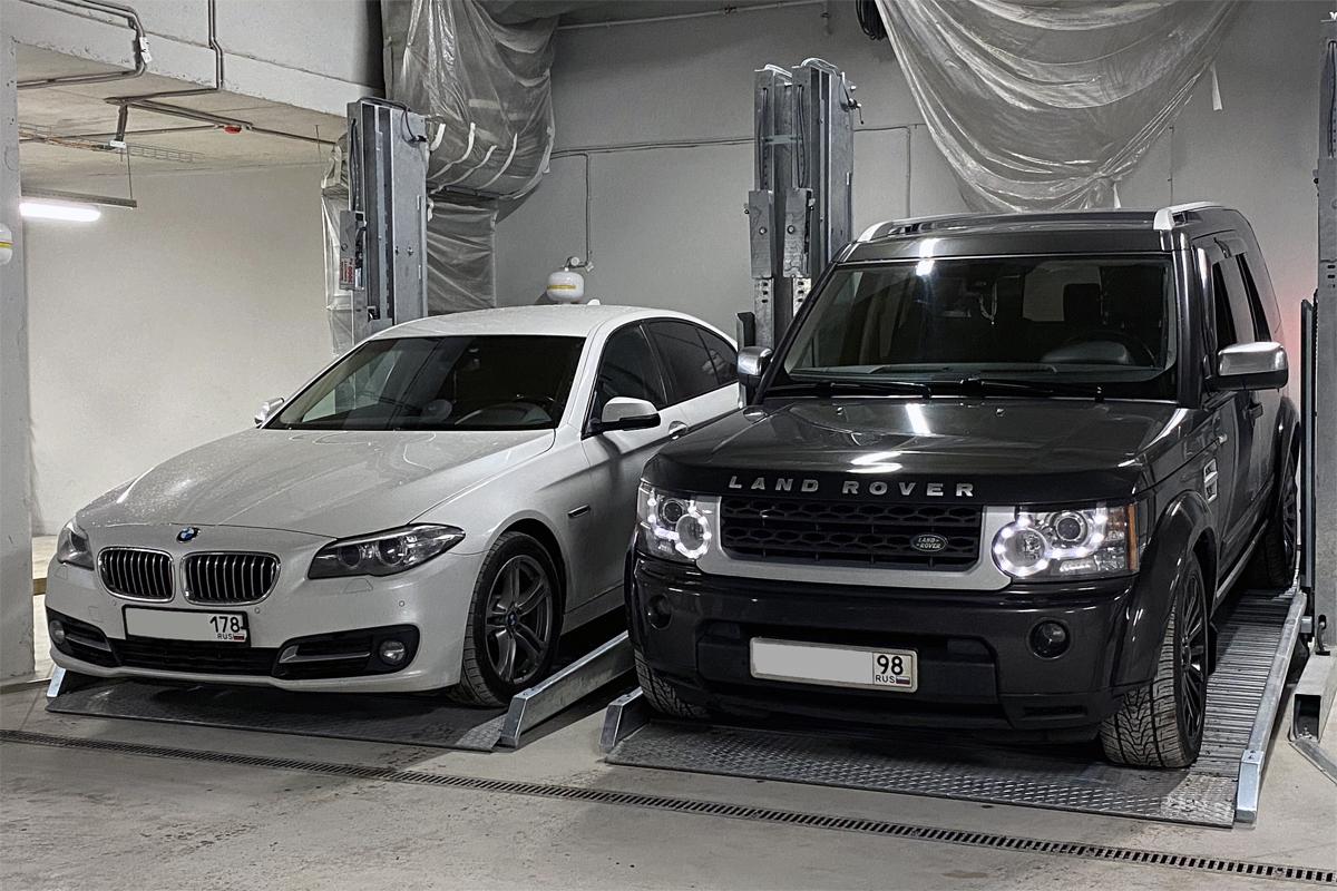 Парковочные подъёмники для двух автомобилей