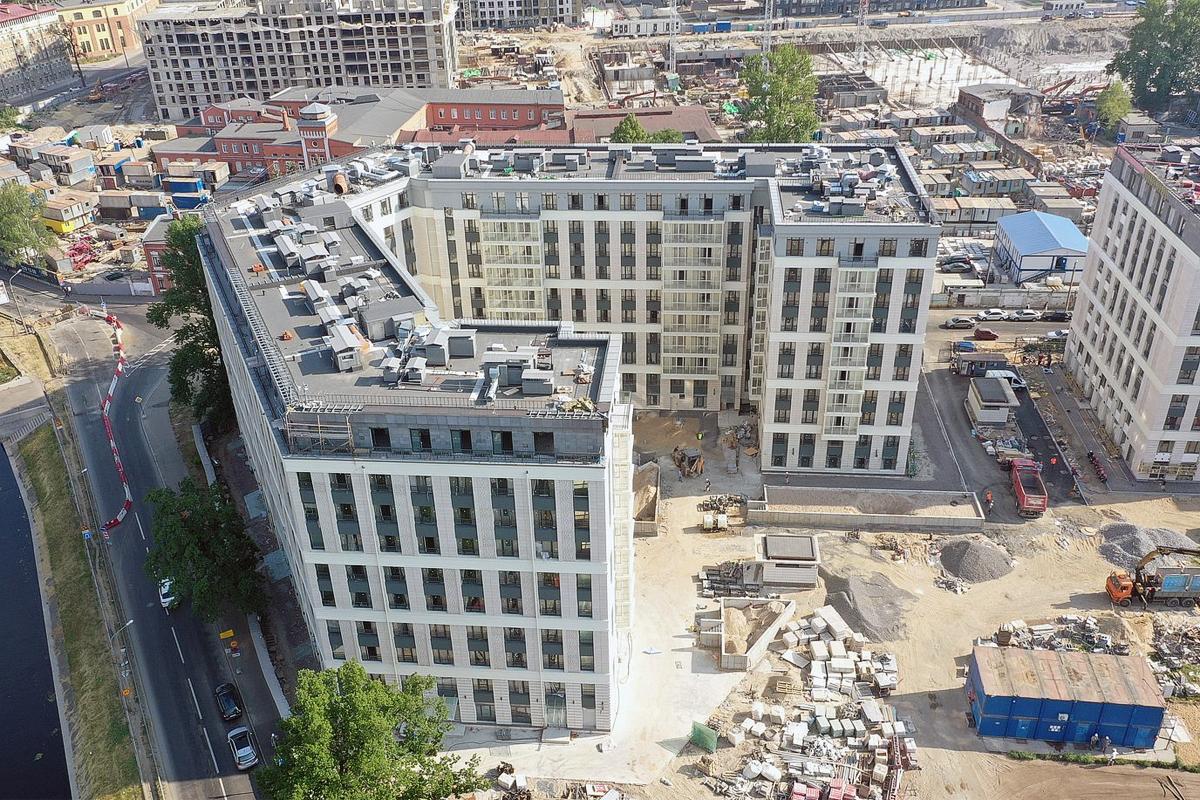Строительство жилого комплекса «Riviere Noire» в Петербурге