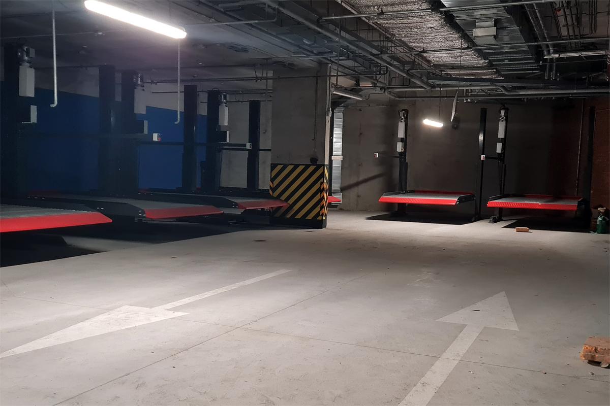 Механизированный подземный паркинг жилого комплекса «Riviere Noire»
