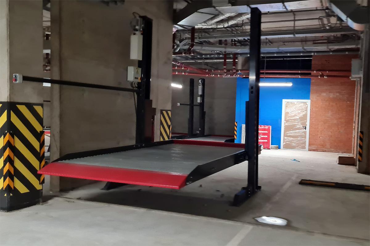 Парковочный подъёмник установлен в паркинге ЖК «Riviere Noire»