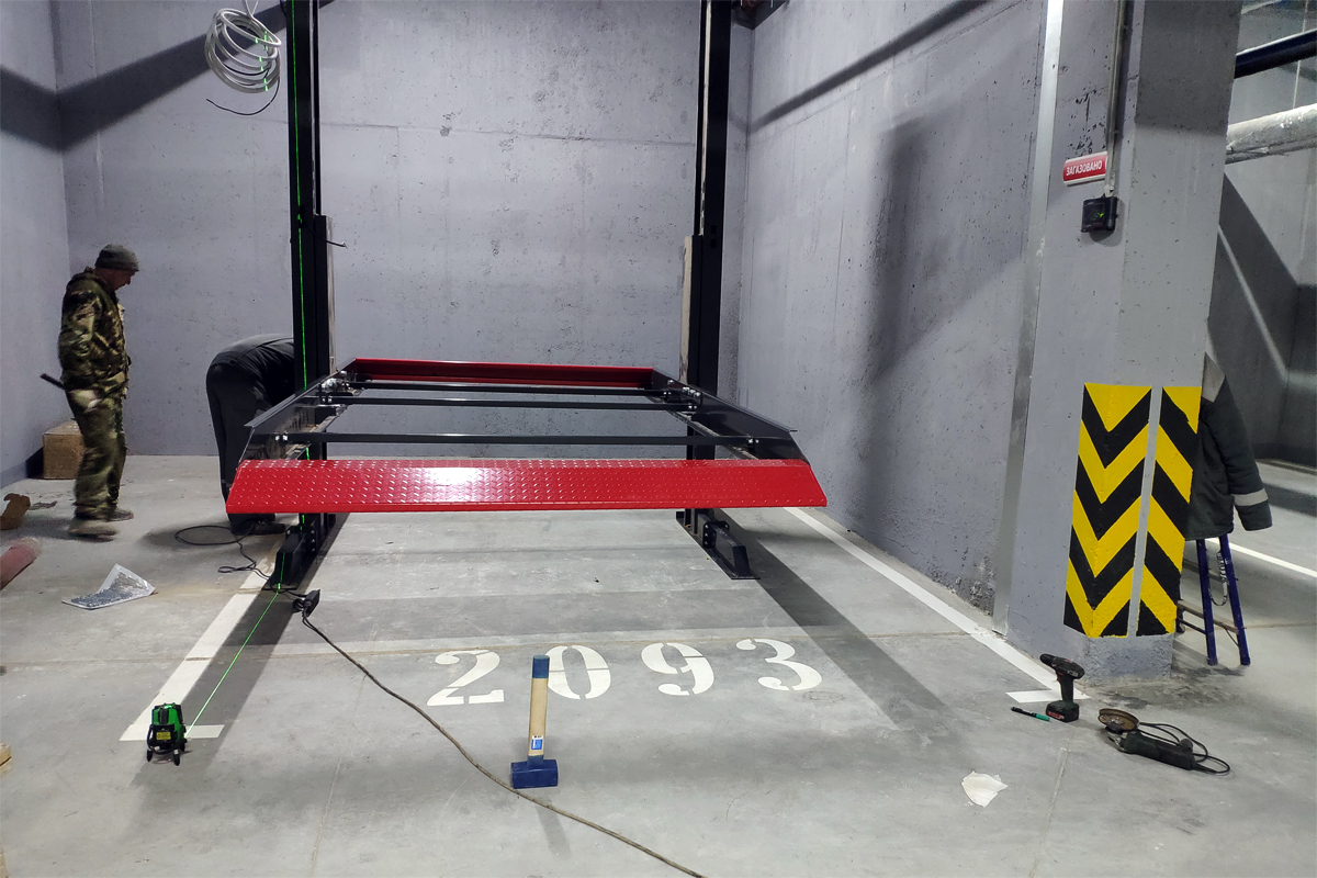 Установка парковочной системы в паркинге
