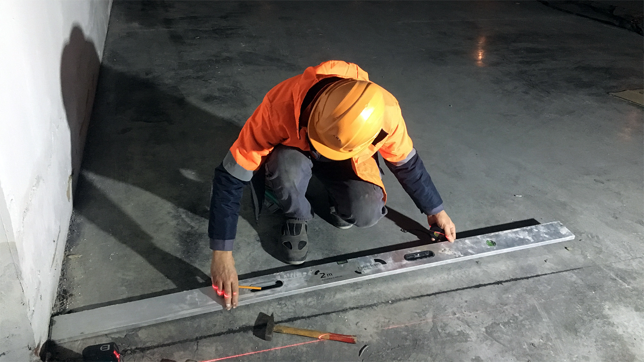 Монтаж оборудования в подземном механизированном паркинге