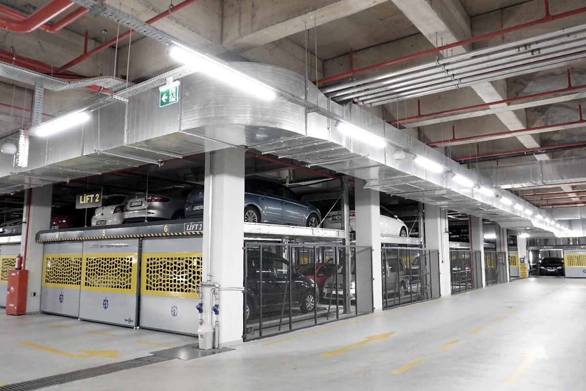 Гидравлическая пазловая парковка SanPark
