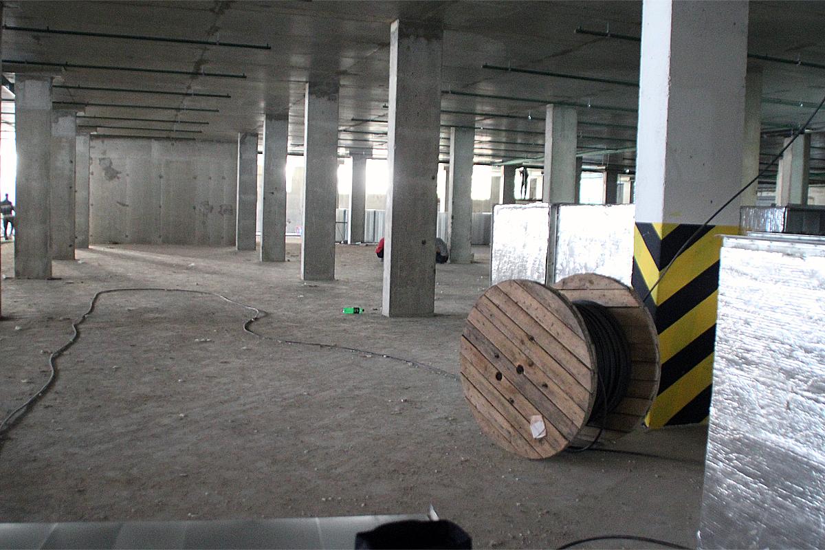 Помещение для установки парковочных подъёмников