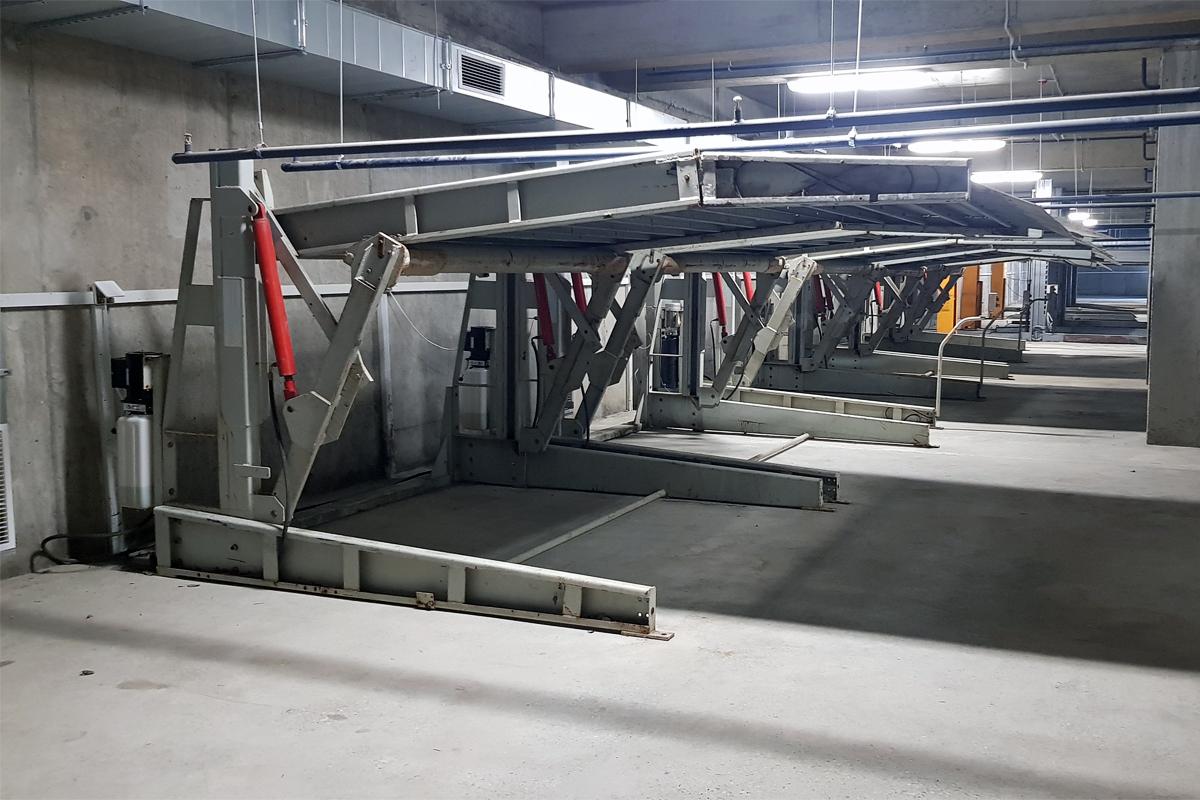 Парковочные подъёмники со склада