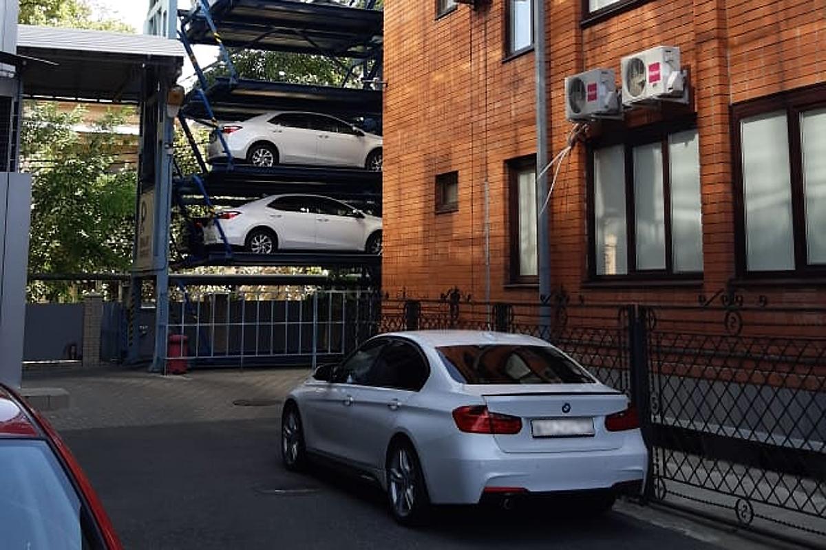 Роторная парковка в Краснодаре