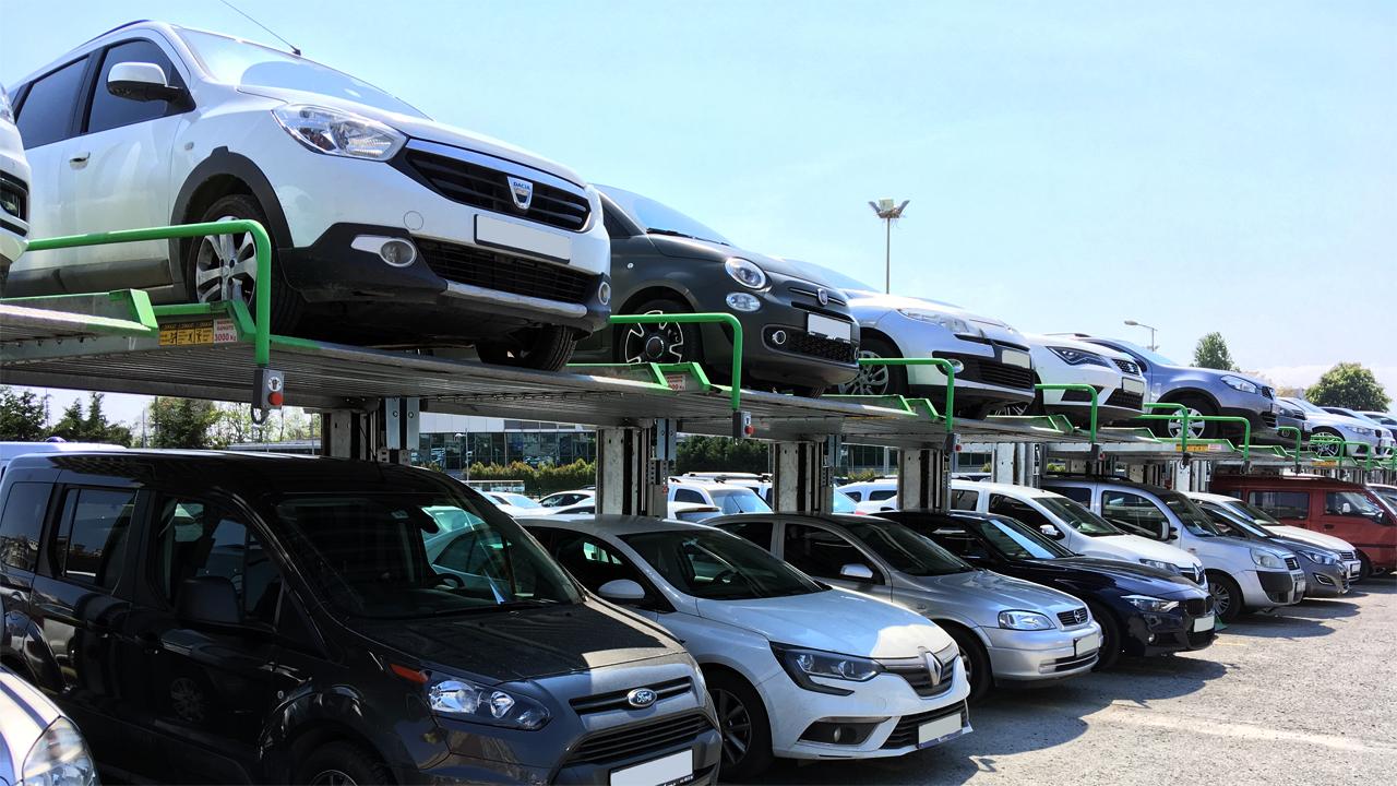 Парковочные подъёмники на открытом паркинге